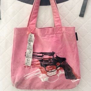 Andy Warhol Pink Pistol Tote Urban Outfitters RARE